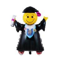 Balon wisuda foil smile graduation balloon
