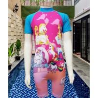 Baju Renang Anak Karakter UNICORN Diving Tanggung SD Usia 4-10 tahun - M