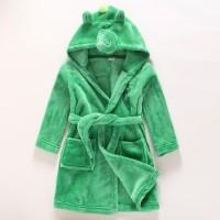 Promo Baju Kimono Handuk Mandi Renang Hoodie Bathrobe Dino Impor Anak