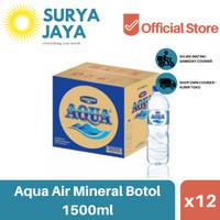 Distributor Air Aqua Botol Dus 1500ml (isi 12pcs) -Air Mineral