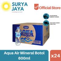Distributor Air Aqua Botol Dus 600ml (isi 24pcs) -Air Mineral Dus