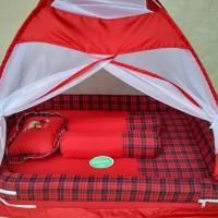 Kasur Bayi Bess Kelambu Tenda Warna Tua - Merah Johnalfarizi