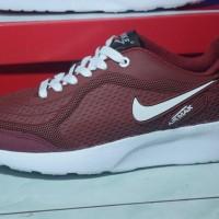 Big Sale Sepatu Nike Airmax Running - Merah Maroon - Pria Wanita -