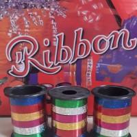 Pita Balon Glitter Warna Mix / Tali Balon