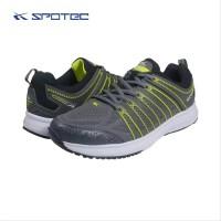 Sepatu Running Spotec Caribian Abu Tua Hijau Cerah