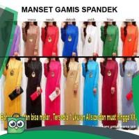 TERLARIS! - MANGSET GAMIS SPANDEK MANSET LENGAN PANJANG MUSLIM DRESS