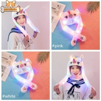 Banny Hat Kids Funny Long-eared Moving Light Hat Cartoon Cute Airbag
