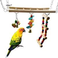 Bantal Ayunan dengan Tangga untuk Kandang Burung Kakak Tua