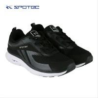 Sepatu Running Spotec Romans Hitam Putih Original
