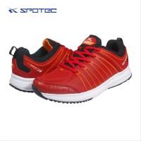 Sepatu Running Spotec Caribian Merah Tua Putih