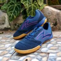 Sepatu Futsal Specs Metasala Rival Galaxy Blue Mango Orange Gum Orig