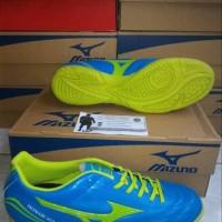 Sepatu Futsal Mizuno Monarcida Blue Yellow Original
