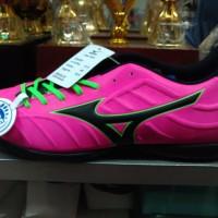 Sepatu Futsal Mizuno Rebula V3 IN Pink Glow Black Original Promo