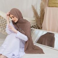ZIGZAG pashmina plisket pashmina chiffon textured import Arabian