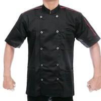 Baju Seragam Chef Koki Juru Masak Hotel Pria Kemeja Pelayan Pendek