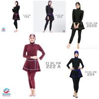 Baju renang wanita muslimah polos EDORA ES ML DW