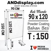 RAK MUNDO UK 90 X 120CM/RAM BINGKAI/DISPLAY CANTOLAN/AKSESORIS