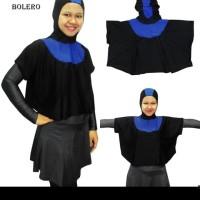 Kerudung Bolero-Topi Bolero Baju Renang Muslim Hitam List Ungu