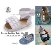 SEPATU FASHION BABY GIRL / SEPATU PESTA BAYI BABY SHOES PARTY / FORMAL - 0-6 Gold