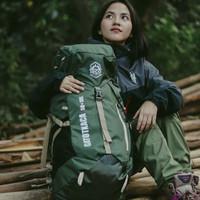 Tas Carrier Gunung 50L - Tas Ransel Outdoor - Backpack Free Cover Bag