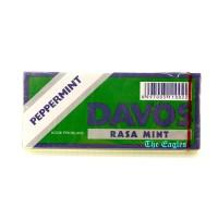 Permen peppermint DAVOS rasa Mint Lux Hijau 15gr candies candy makanan