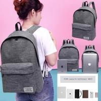 Tas Ransel Korea Style / Backpack Casual / Tas Sekolah / Tas Laptop