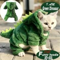 Baju Kucing Anjing Model Dinosaurus Kostum Cat Dog Pakaian Hoodie Dino