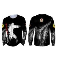 Kaos Baju T-shirt Tangan Panjang Bela diri Karate Inkai