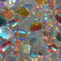 Batu Kalimaya Opal Imitasi Glassstone 15x20x9 mm Oval Polos