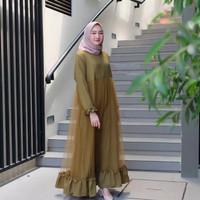 Campaign 12.12 Aninda Dress Moscrepe Mix Tile Baju Gamis Terbaru 2019