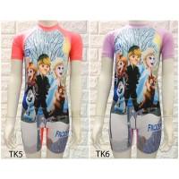 baju renang anak perempuan Diving TK karakter frozen USIA 4-8 tahun