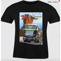 Kaos Bis Warna Po Haryanto Baju Hitam Bus Haryanto Tshirt Kode HHR-31