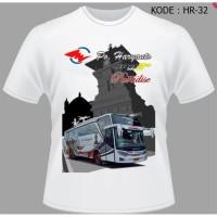 Kaos Bus Po Haryanto Baju Bis Shd hitam Reborn Jetbus Setra HR-32