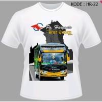 Kaos Bus Po Haryanto Baju Bis Shd Tshirt Bismania Star Queen HR-22