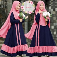 Romera Kids Baju Muslim Gamis Anak Perempuan Usia Umur 7 - 9 Tahun
