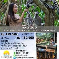 Bali Zoo Addmission + Lunch with Nasi Campur/Goreng untuk Dewasa
