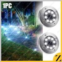 Lampu Taman Bulat 8 LED Outdoor Tancap Tenaga Matahari Solar Mood
