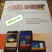 SILVER Anti Gores Clear Samsung Tab 3V Screen Guard Bening