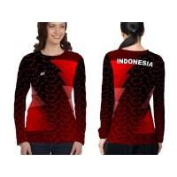 Kaos Baju Lengan Panjang Wanita BADMINTON 01 Fullprint