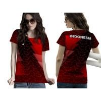 Kaos Baju Tshirt Wanita BADMINTON 01 Fullprint