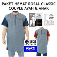 Paket Couple Rompi Sholat - Rosal Classic - Ayah & Anak