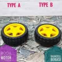 Roda Robot SmartCar Avoider Line Follower Whell Tyre Velg Ban Karet