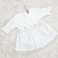 Dress Anak Bayi Perempuan Baju Aqeqah Gamis Dress Putih