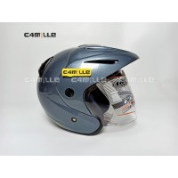 HELM INK CX 22 SOLID GREY HALF FACE ORIGINAL
