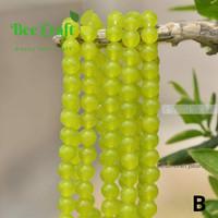 bahan Batu agate lemon jade 8 mm