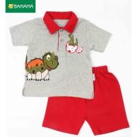 BANANA Setelan Baju Bayi Laki - Laki Kerah Dinno