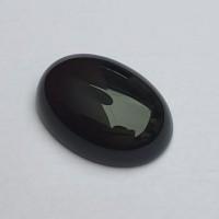 Batu Onix Batu Onyx Hitam Oval Size 15 x 20 mm