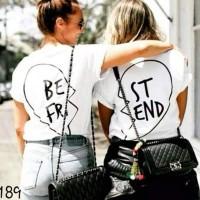 Kaos Polos/Baju Couple/Pasangan/Teman/Wanita/Cewek-Putih-JS-00189
