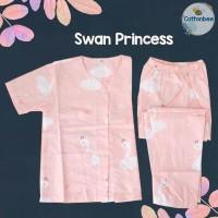 Piyama Anak Katun Premium - Swan Princess