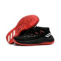 adidas dame lilard 4 black red gold sepatu basket